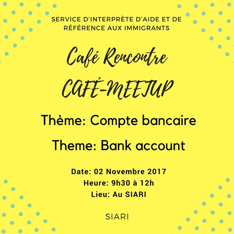 Cafe Rencontre Compte Bancaire Le Siari